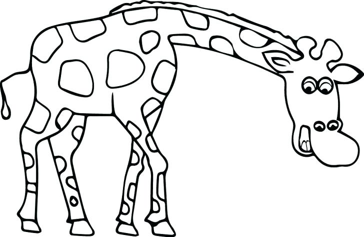 728x473 Cute Giraffe Coloring Pages Best Printable Image Little Page