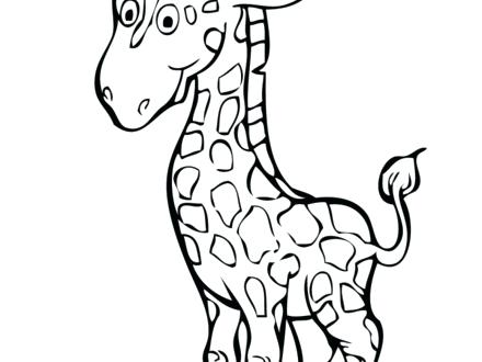 440x330 Baby Giraffe Coloring Pages Baby Giraffe Coloring Pages Coloring