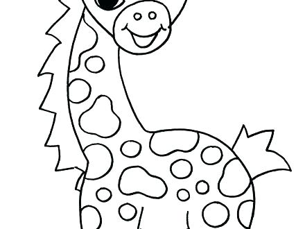 440x330 Cute Giraffe Coloring Pages Cute Baby Giraffe Coloring Pages