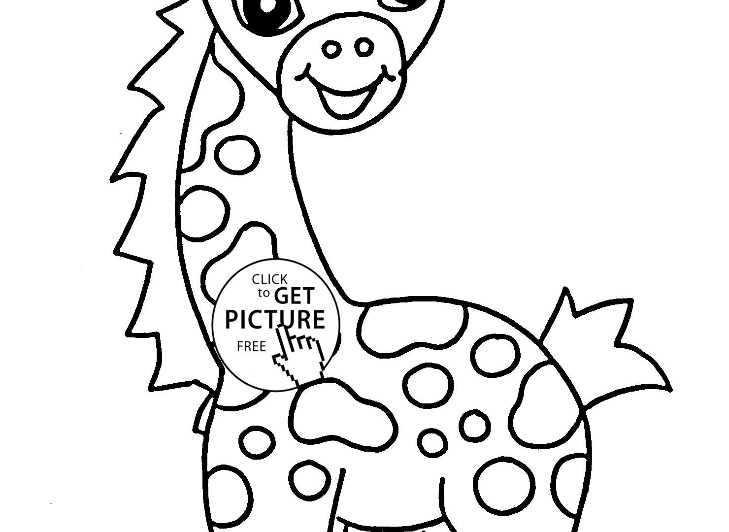 1480x1080 Baby Giraffe Coloring Pages Printable Color Colouring Cute Best