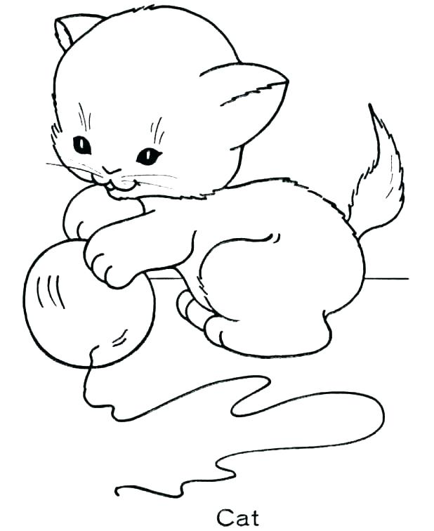 618x756 Baby Kitten Coloring Pages Kitten Coloring Page Newborn Baby