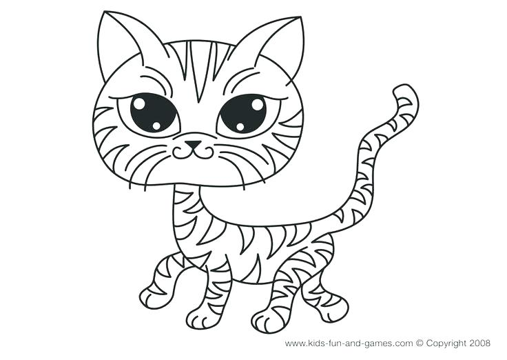 736x522 Remarkable Cute Cat Coloring Pages Kitten Coloring Pages For Kids