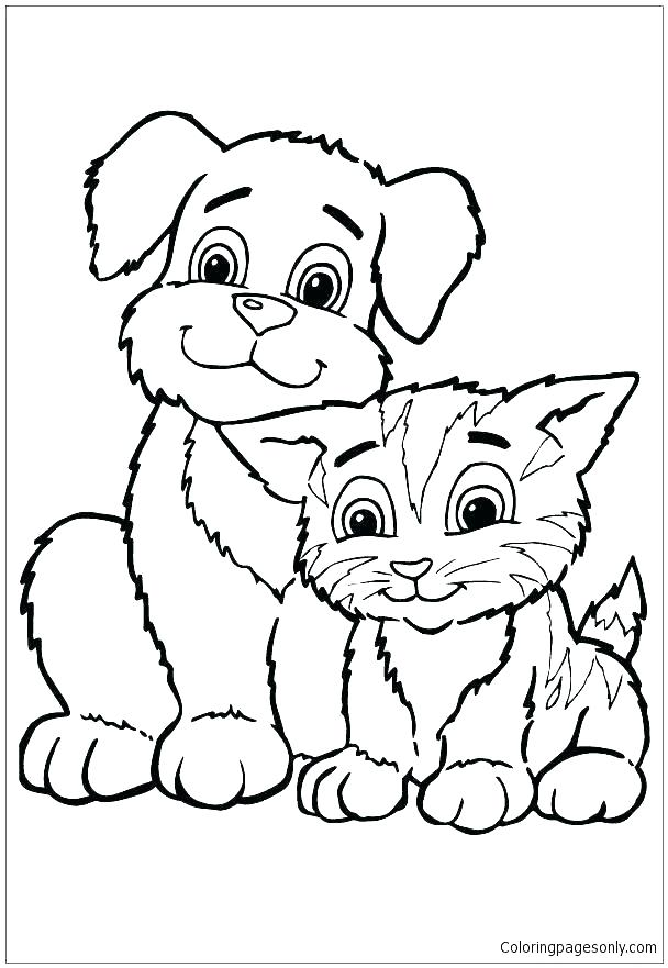 608x881 Kittens Coloring Pages