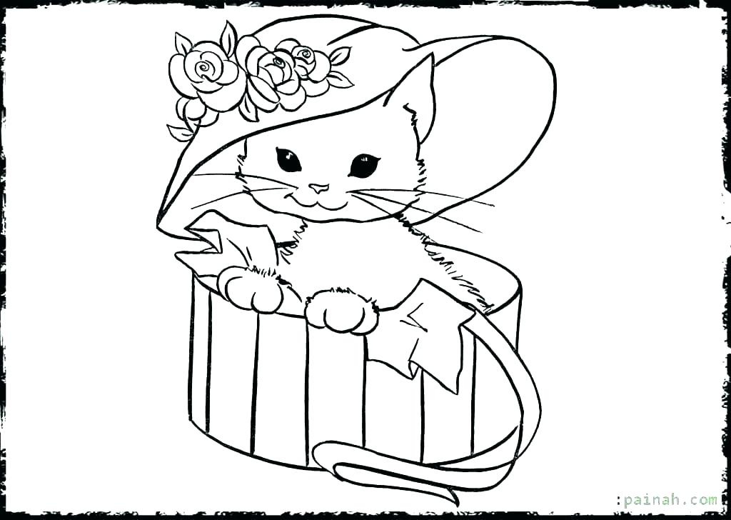 1024x728 Baby Kitten Coloring Pages Cute Cat Coloring Pages Baby Kitten