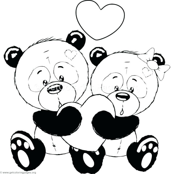 The best free Cute panda coloring page images. Download ...