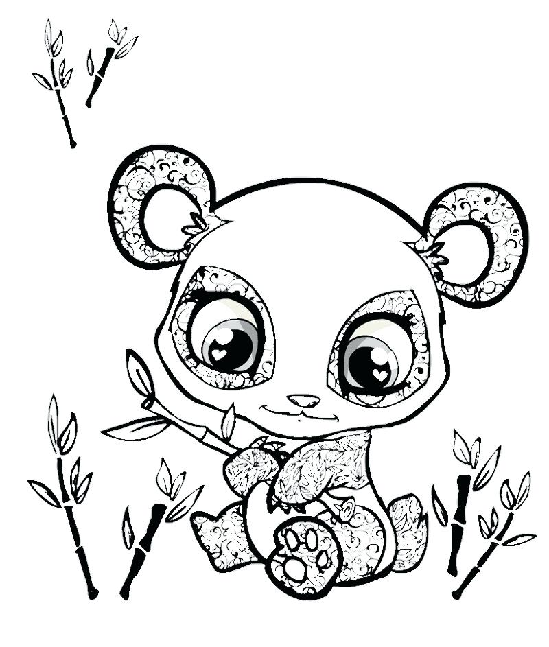 Cute Baby Panda Coloring Pages At Getdrawings Com Free For