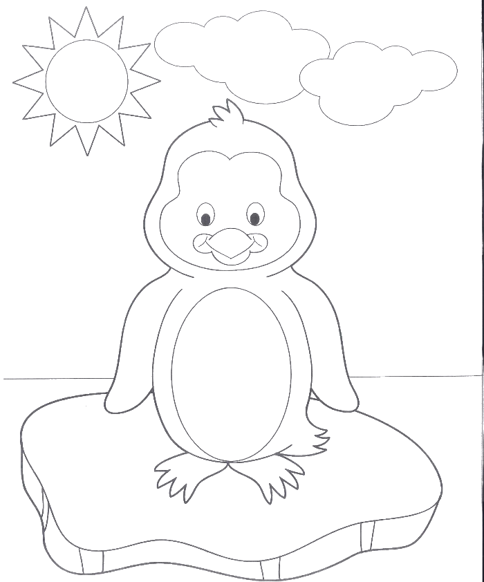 700x842 A Very Cute Baby Penguin Coloring Pages