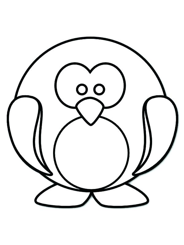 600x800 Coloring Pages Penguins Penguin Coloring Pages Baby Penguin