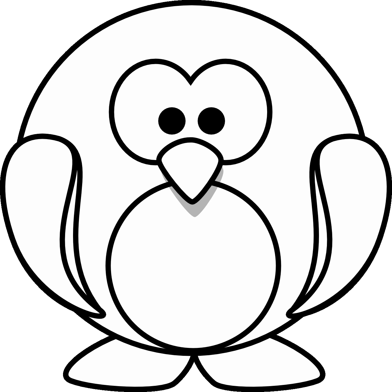 1331x1333 Scarf Coloring Page Baby Penguin Coloring Pages