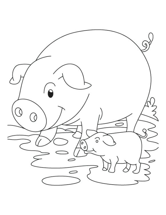 580x750 Baby Pig Coloring Pages Cute Baby Pig Coloring Page Minecraft Baby