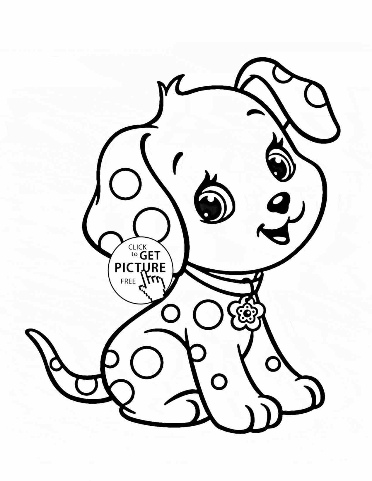 Cute Baby Puppy Coloring Pages