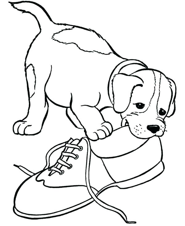 600x734 Baby Puppy Coloring Pages Puppy Color Page Dog Coloring Pages