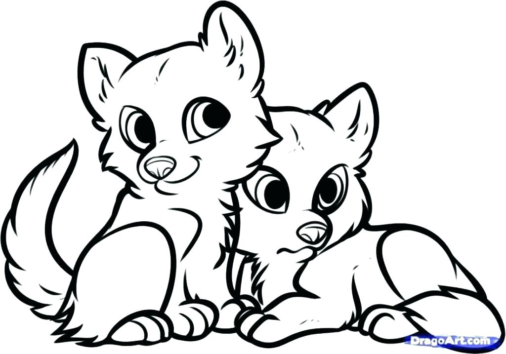 1024x717 Coloring Pages Of Puppies Puppy Coloring In Kittens And Puppies