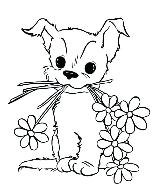 650x796 Cute Baby Puppy Coloring Pages Sheets For Adults