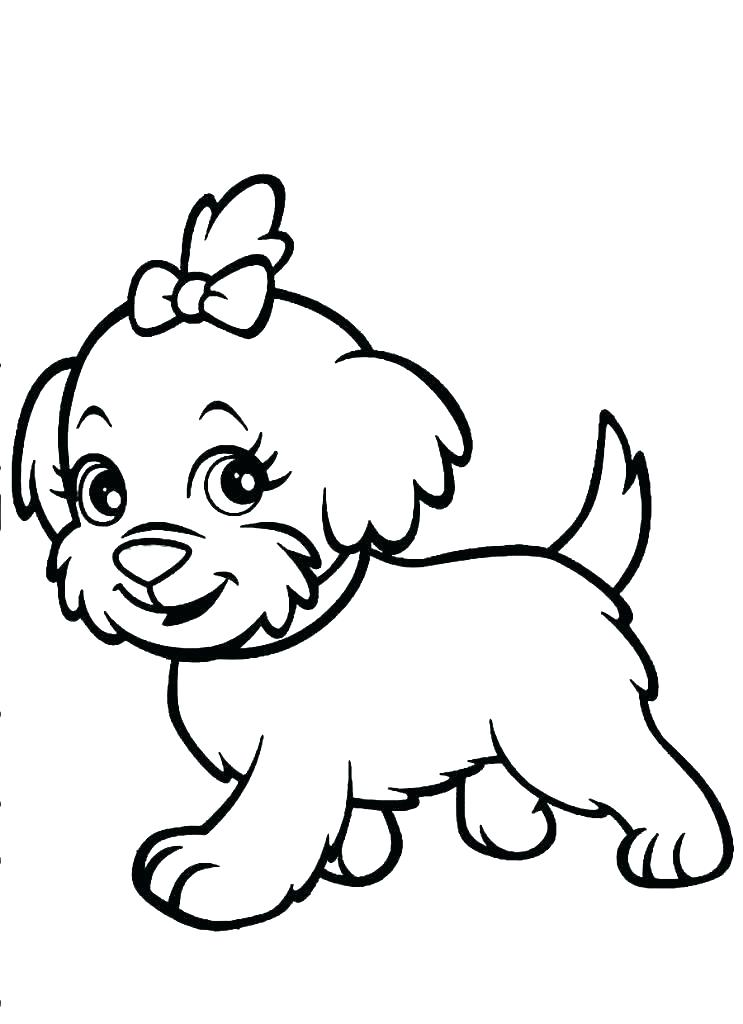 743x1024 Cute Puppy Coloring Sheets Able Cute Baby Dog Coloring Pages