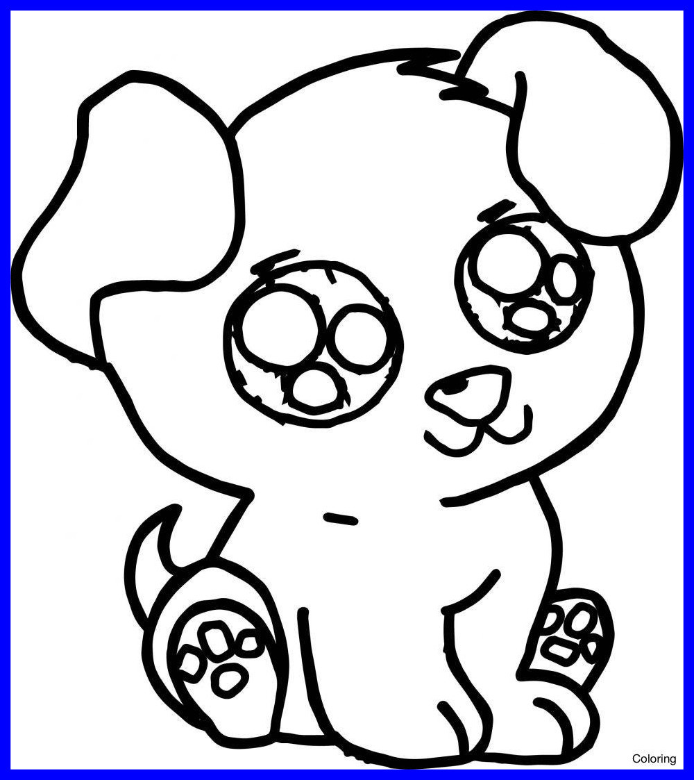 1000x1123 Baby Puppy Coloring Pages Wagashiya