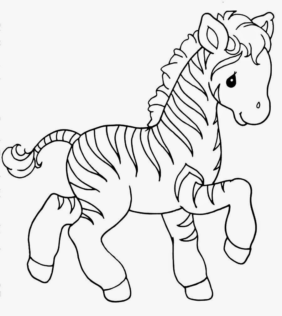 Cute Baby Zebra Coloring Pages