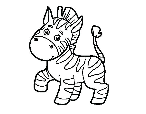 Cute Baby Zebra Coloring Pages At Getdrawings Free Download