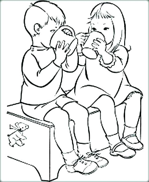480x586 Best Friend Heart Coloring Pages Friend Coloring Pages Friend