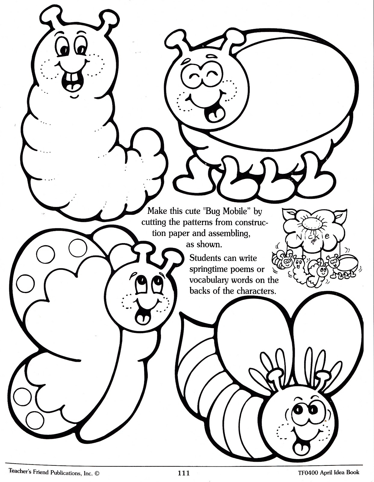 Cute Bug Coloring Pages