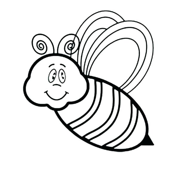 600x600 Bumble Bee Coloring Pages Bumble Bee Coloring Pages Bees Coloring
