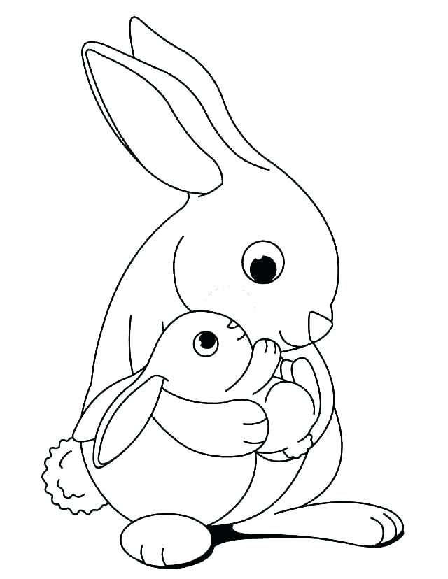 640x828 Coloring Page Bunny Cute Bunny Coloring Pages Easter Bunny