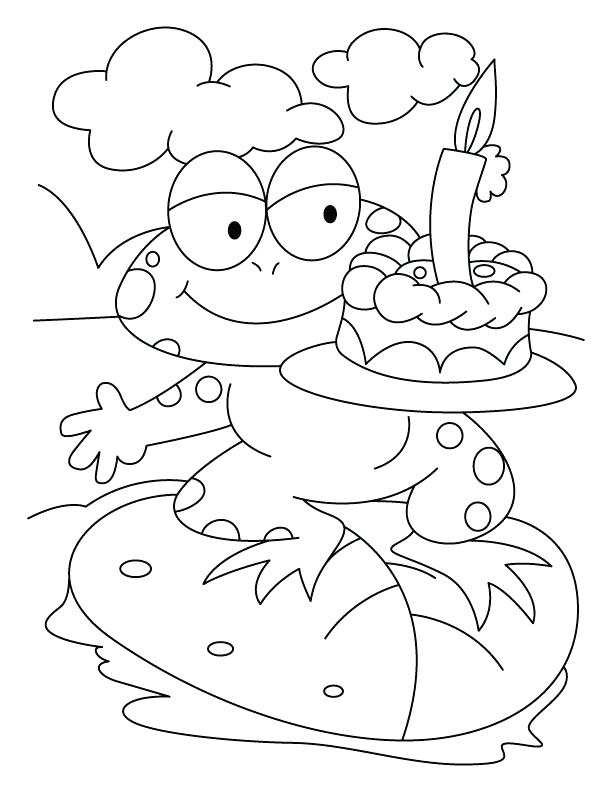 612x792 Coloring Page Cake Coloring Pages Download Free A Frog With Cake