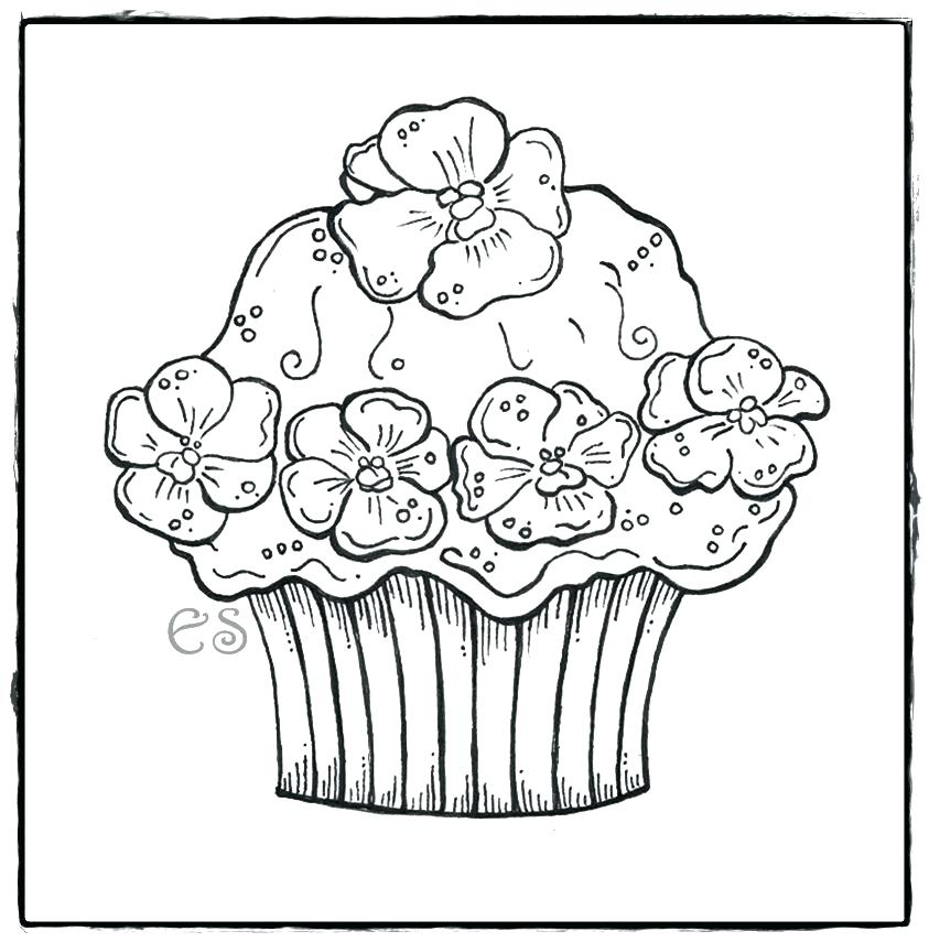 843x855 Cup Cake Coloring Page Cupcake Coloring Pages Cupcake Coloring