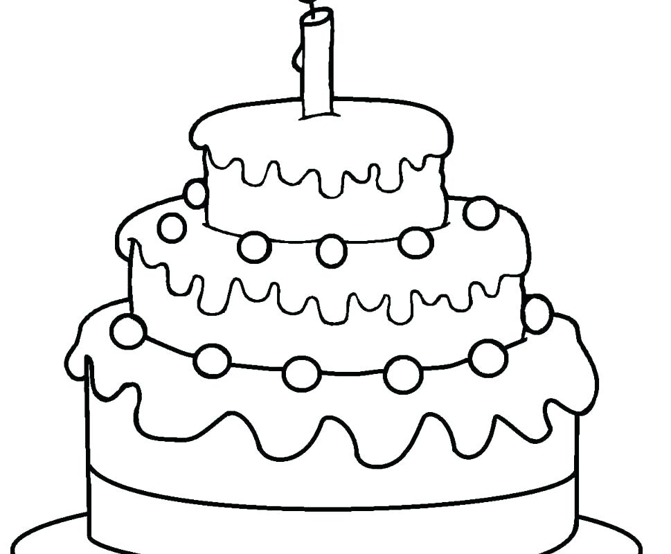 969x800 Birthday Cake Coloring Page Printable Birthday Cake Coloring Page
