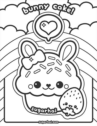 400x518 Free Bunny Cake Coloring Page Bunny Cupcakes, Bunny And Kids