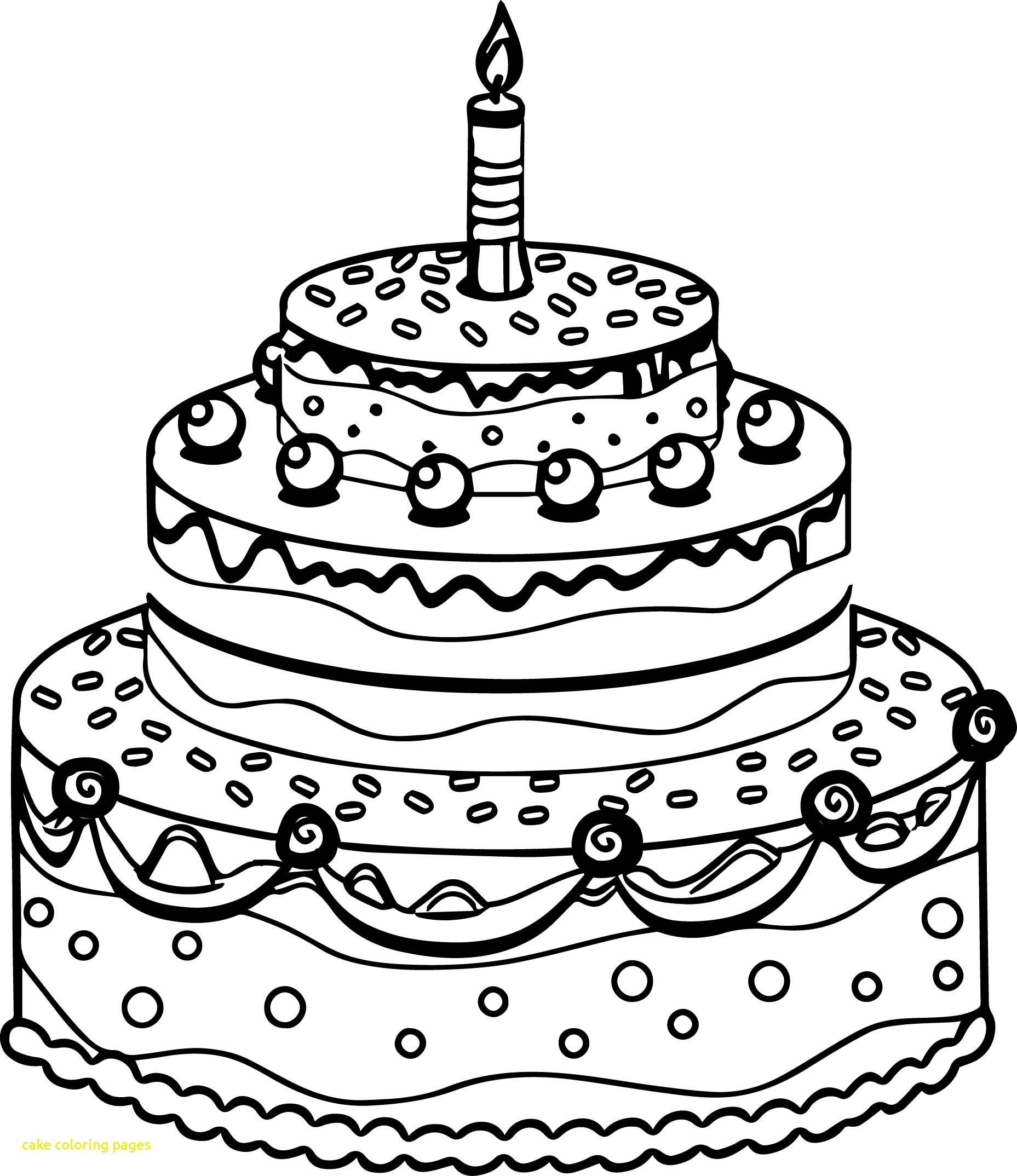 1857x2148 Cake Coloring Pages With Cute Birthday Cake Coloring Page
