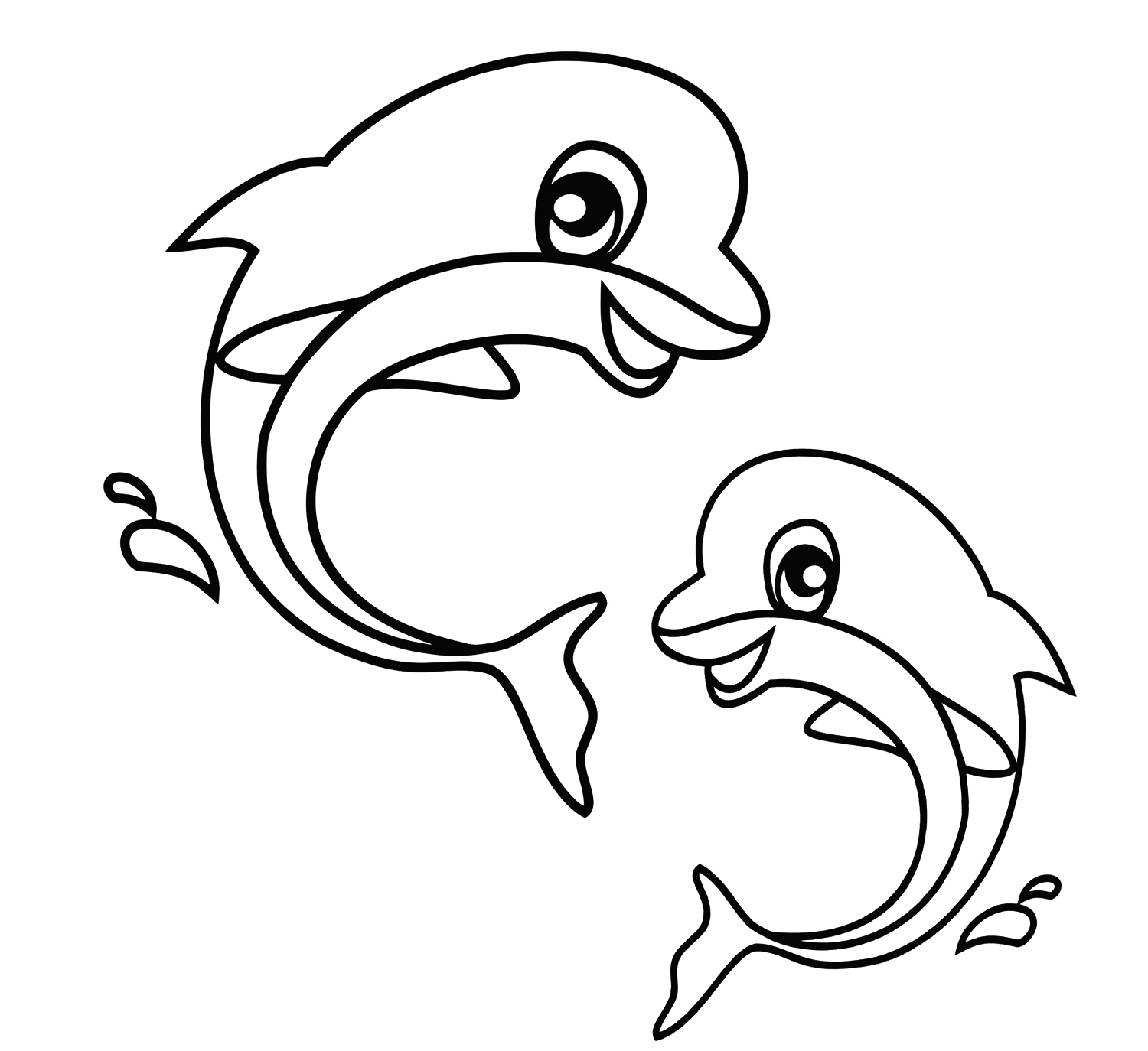 1500x1374 Cute Sea Animals Coloring Pages