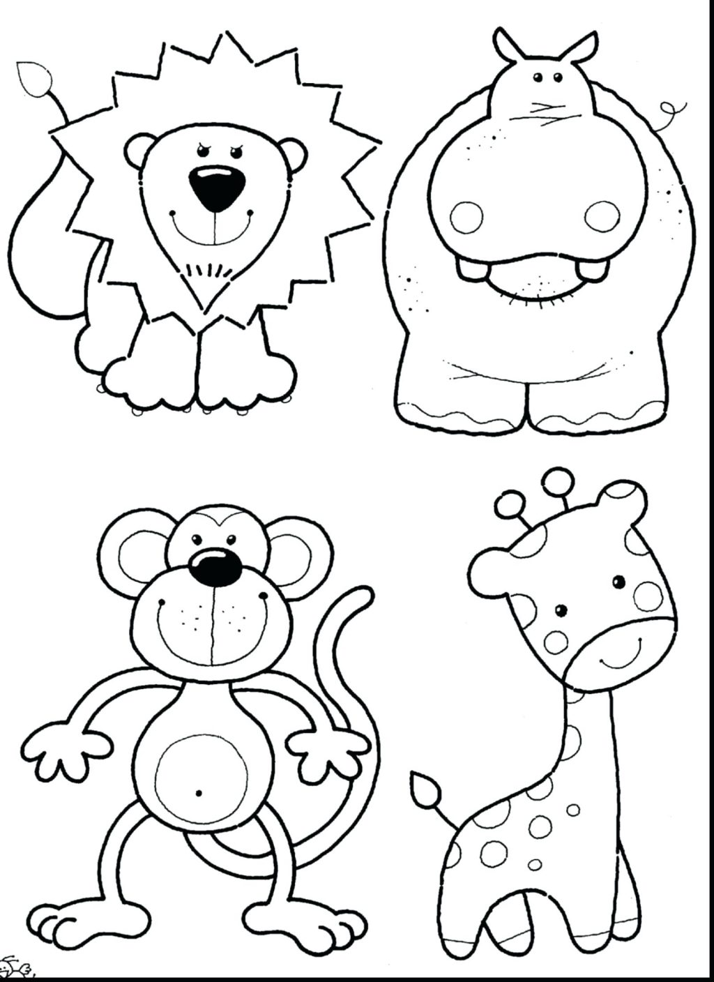 1024x1408 Coloring Pages Cute Baby Animal Coloring Pages Incredible