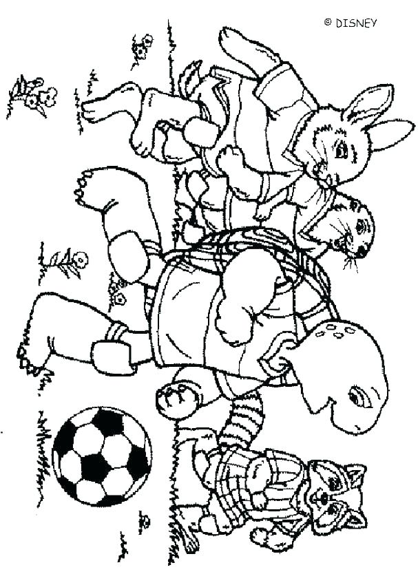 Cute Cartoon Characters Coloring Pages