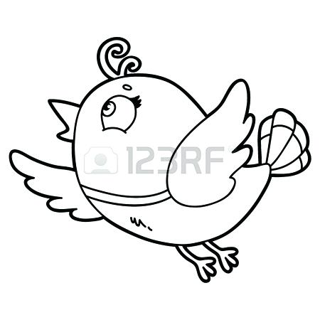 450x450 Cute Cartoon Characters Coloring Pages Cute Cartoon Bird Character