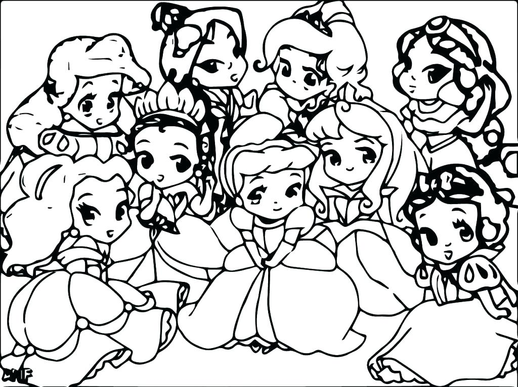 1024x766 Cute Cartoon Characters Coloring Pages Of Baby Fr