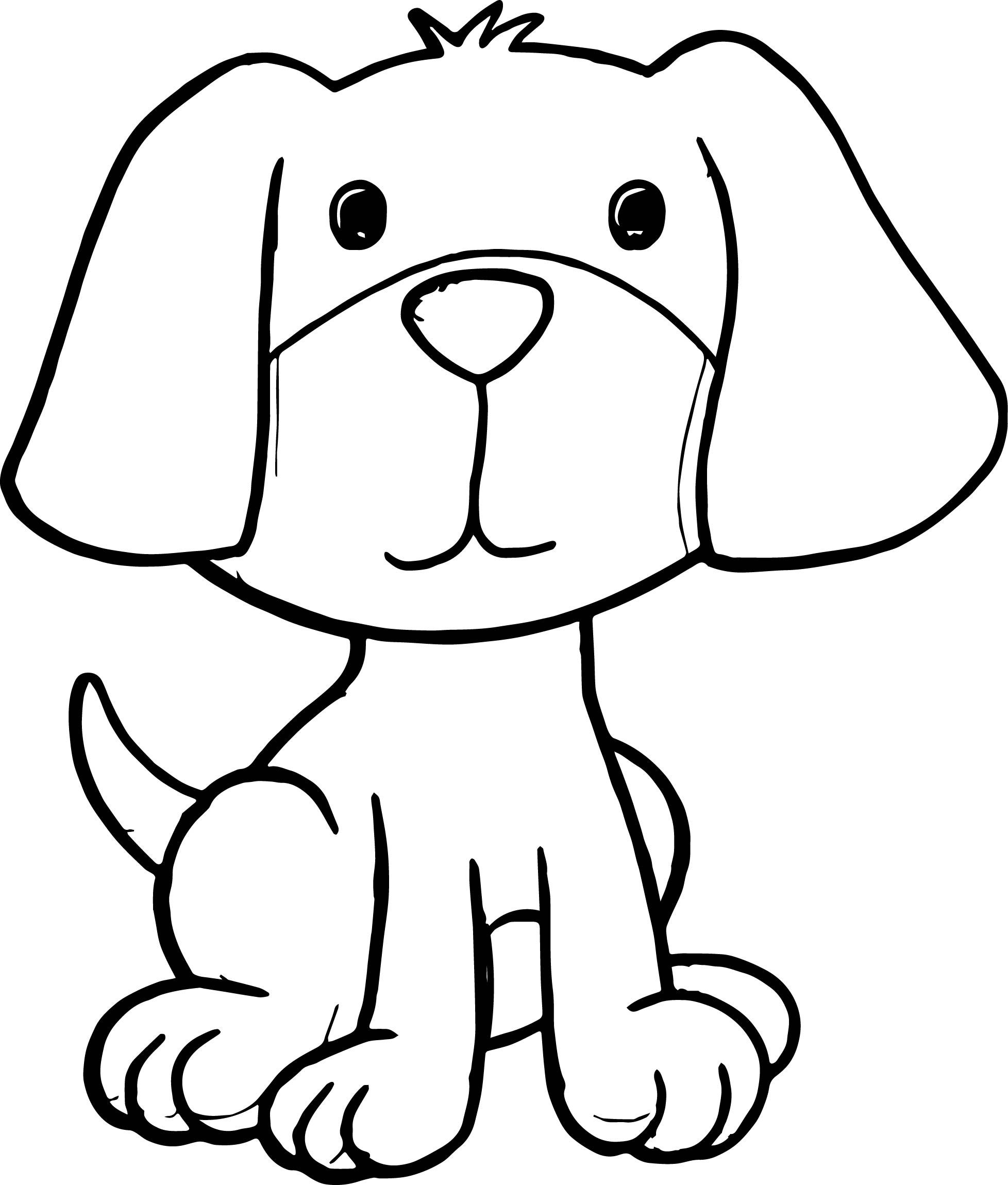 Cute Cartoon Dog Coloring Pages