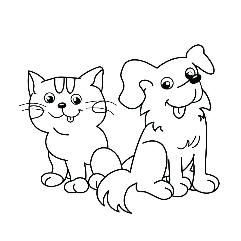 Cute Cartoon Dog Coloring Pages At Getdrawings Com Free For