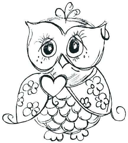 433x482 Cartoon Owl Coloring Pages Cute Owl Coloring Page Coloring Book