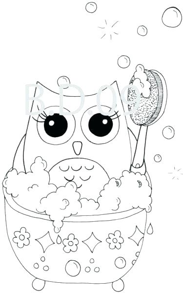 375x600 Cartoon Owl Coloring Pages To Print Amazing Cute Books Sheets