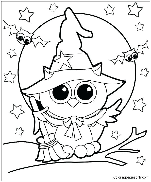 613x738 Coloring Page Of Owl Cartoon Owl Coloring Pages Cute Owl Coloring