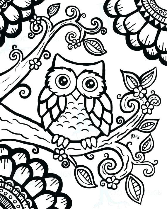 570x713 Cute Owl Coloring Pages Cute Owl Coloring Pages Cute Cartoon Owl