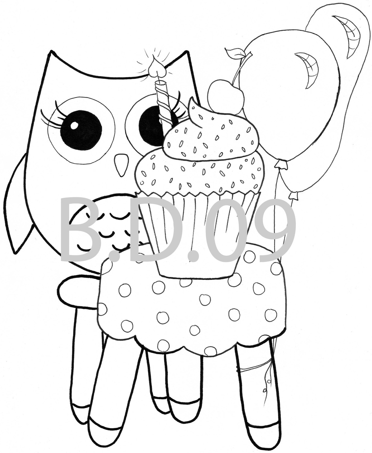 1231x1500 Of Cute Owls Coloring Page Free Download