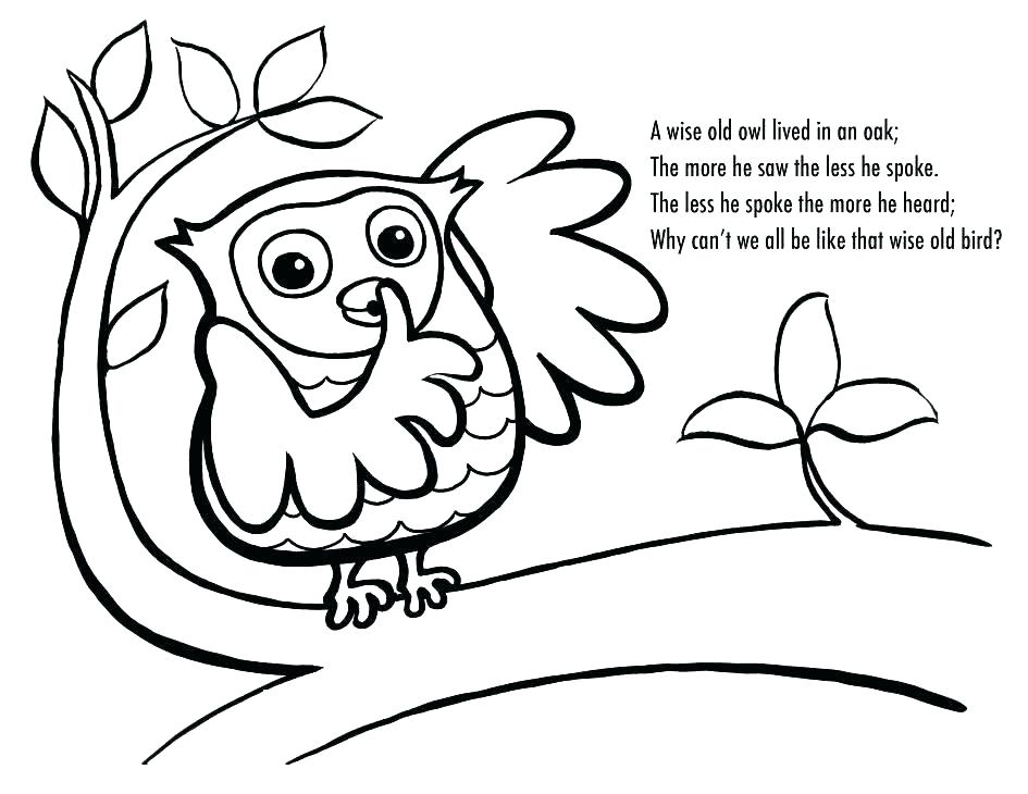 945x730 Owl Coloring Pages For Kids Cartoon Baby Owl Coloring Pages Kids