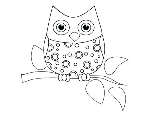 500x386 Best Cute Owl Coloring Pages Free Printable Free Printable Owl