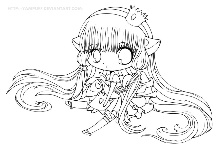 Cute Chibi Coloring Pages At Getdrawings Free Download