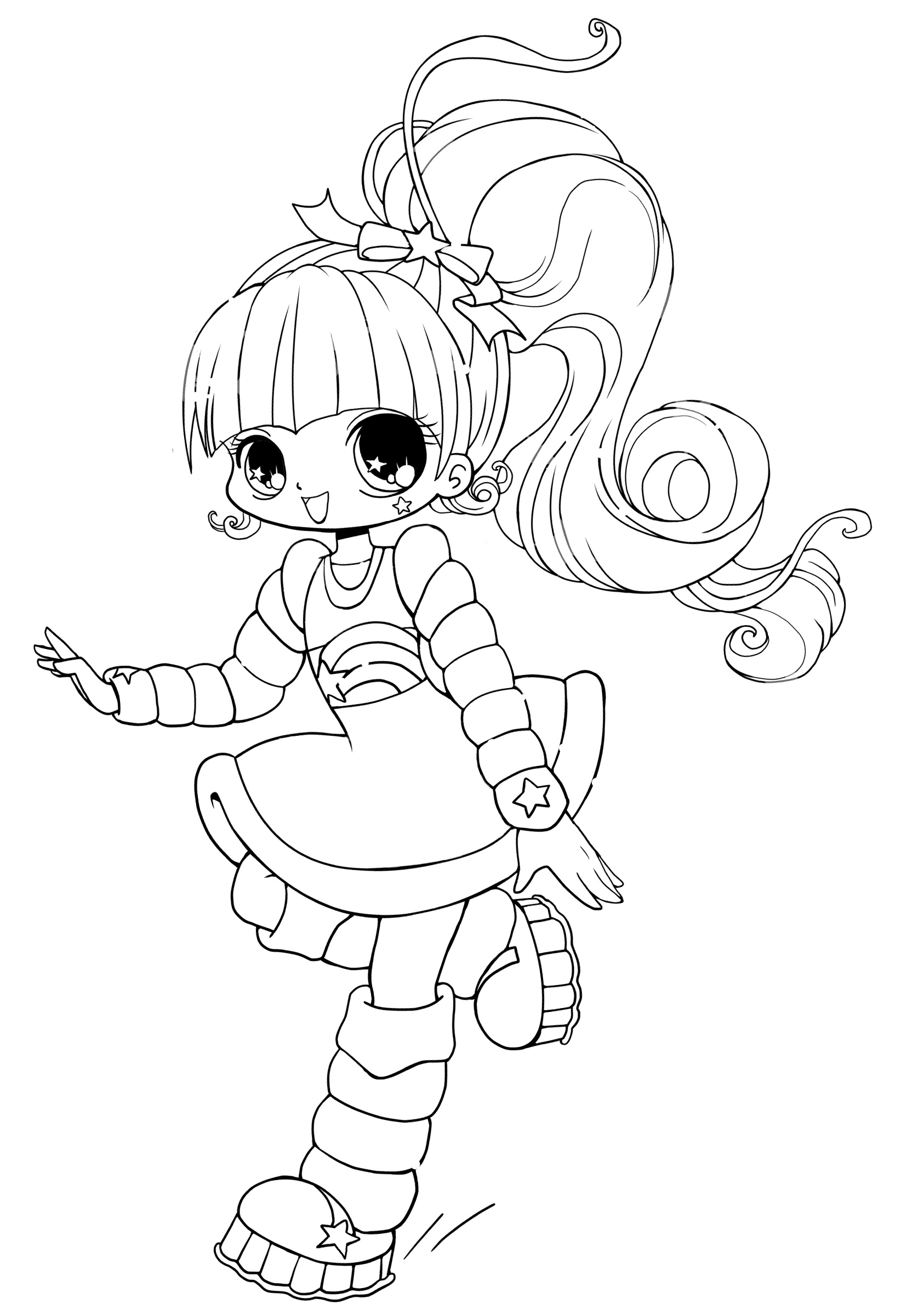 1644x2402 Free Printable Chibi Coloring Pages For Kids