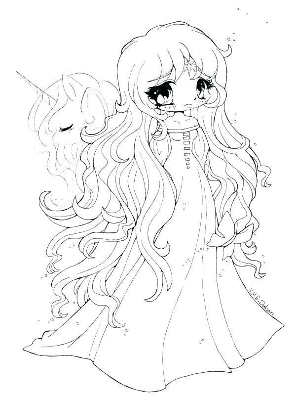 600x807 Chibi Coloring Page Cute Free Coloring Pages Chibi Princess