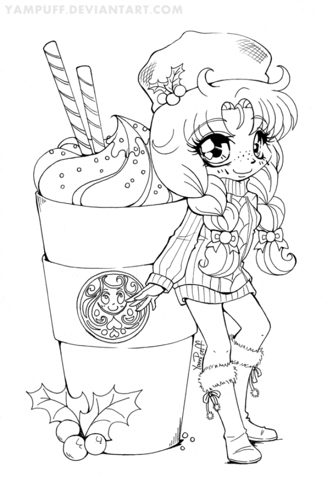 659x960 Chibi Coloring Pages