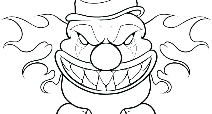 728x393 Clown Colouring Images Clown Coloring Page Clown Coloring Sheets